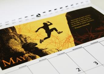 Sample page of award-winning calendar