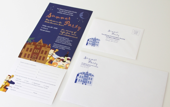 Invitation card and envelopes